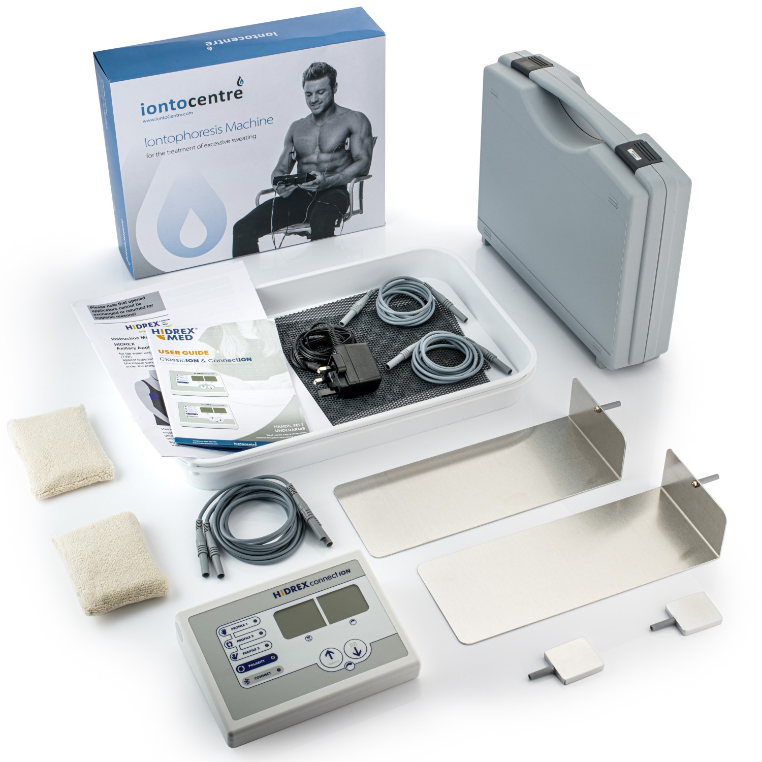 Hidrex ConnectION iontophoresis machine for hands, feet and underarms