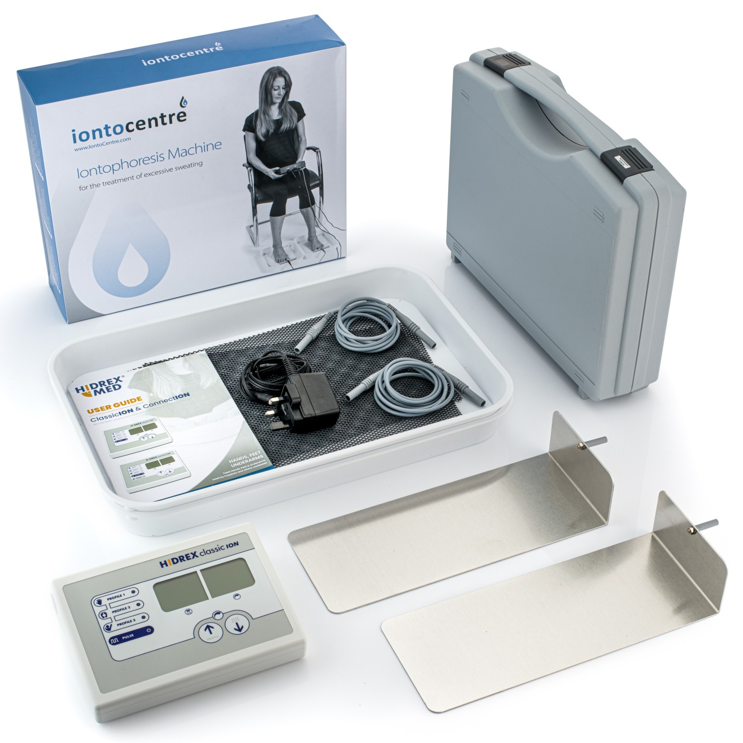 Image showing full Hidrex Iontophoreis system for hands and feet